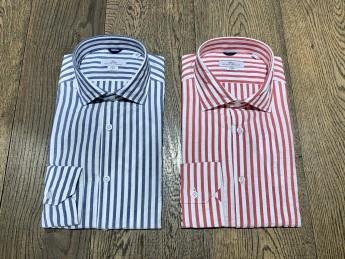 Camicia Brio in cotone slim fit a righe